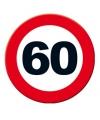 Verkeersbord 60 jaar poster 49 cm