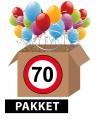 Verkeersbord 70 jaar feestartikelen pakket
