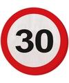 Verkeersbord servetten 30 jaar