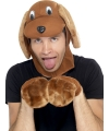 Verkleedset bruine hond