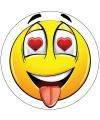 Verliefde smiley sticker type 4