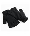 Vingerloze gebreide handschoenen zwart