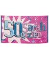 Vlag sarah gezien 90 x 150 cm