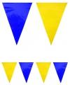 Vlaggenlijn blauw geel 10 meter