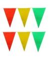 Vlaggenlijn geel rood groen 10 meter