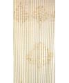 Vliegengordijn houten kralen blank