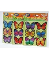Vlinder 3d stickers 6 stuks