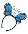 Vlinder diadeem blauw voor kinderen
