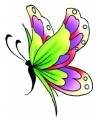 Vlinder glitter tattoo groen paars