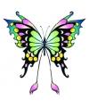 Vlinder glitter tattoo zwart groen