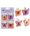 Vlinder knijpertjes 4 stuks