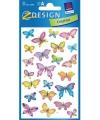 Vlinder stickers 3 vellen