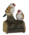 Vogel tuinbeeldje puttertjes met geluid 11 cm