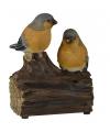 Vogel tuinbeeldje vink met geluid 11 cm