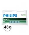 Voordeel pakket met 48 philips long life aaa batterijen