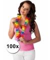 Voordeelpakket gekleurde hawaiikransen 100 stuks