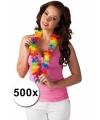 Voordeelpakket gekleurde hawaiikransen 500 stuks