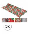 Voordelig kerst kadopapier 5 rollen