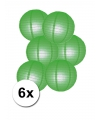Voordelig lampionnen pakket groen 6x