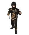 Voordelig zwarte ninja kostuum voor kinderen