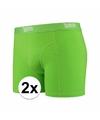 Voordelige groene boxershorts 2 pak voor heren