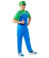 Voordelige groene loodgieter kostuum voor heren