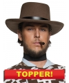 Voordelige heren cowboy hoed bruin