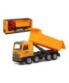 Vrachtwagen met container rood 40 x 16 cm