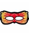 Vuurvogel oogmasker rood geel voor kinderen