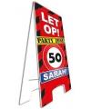 Waarschuwingsbord 50 jaar sarah