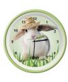 Wandklok konijn groen 25 cm
