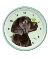 Wandklok labrador groen 25 cm