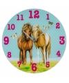Wandklok paarden blauw 33 cm