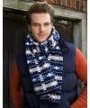 Warme gebreide jacquard sjaal