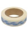 Washi tape blauw met babyvoetjes