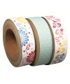 Washi tape set 3 rollen bloemenprint