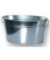 Wasteil drankjes emmer zilver 49 cm