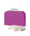 Weekend koffertje roze 30 cm