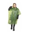 Wegwerp regenponcho groen