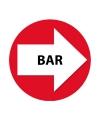 Wegwijzer setje rood bar