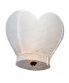 Wensballon wit hart 100 cm