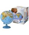 Wereldbol 25 cm met verlichting