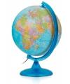Wereldbol blauw met verlichting