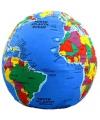 Wereldbol knuffelkussen 30 cm