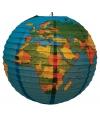 Wereldbol lampion 41 cm