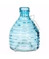 Wespenvanger van blauw glas 18 cm