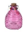 Wespenvanger van roze glas 18 cm