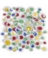 Wiebel oogjes met gekleurde pupillen 30 stuks