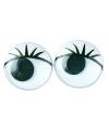 Wiebel oogjes met wimpers 15 mm