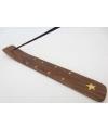 Wierookhouder houten plankje ster